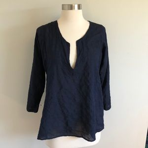 Made in California Breezy Blue Cotton Top Sz 0